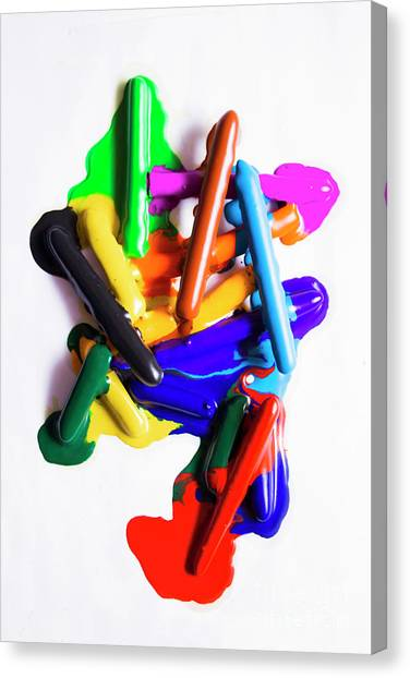 Crazy Canvas Print - Modern Rainbow Art by Jorgo Photography - Wall Art Gallery