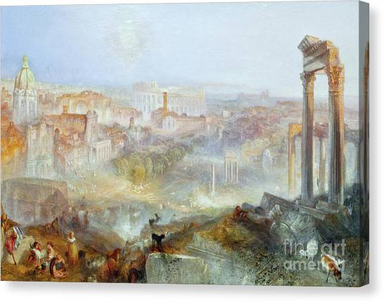 Rennaissance Art Canvas Print - Modern Rome 1839 by JMW Turner