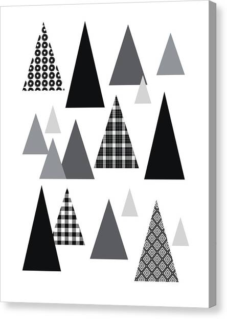 Plaid Canvas Print - Modern Triangle Trees- Art By Linda Woods by Linda Woods