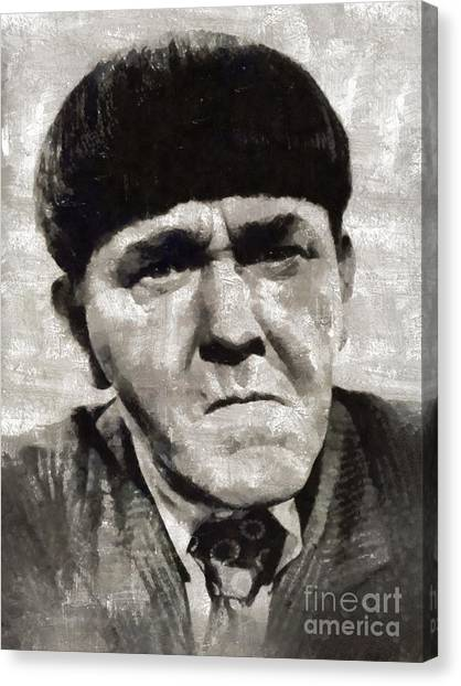 Stardom Canvas Print - Moe Howard, Vintage Entertainer by Mary Bassett