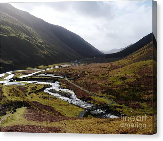 Moffat Water Valley Canvas Print by Phil Banks