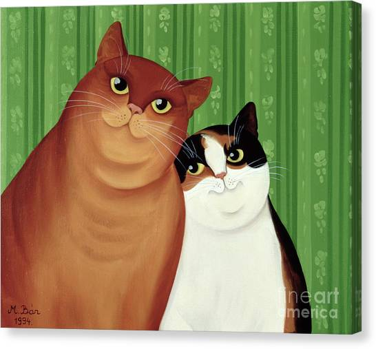 Pets Canvas Print - Moggies by Magdolna Ban