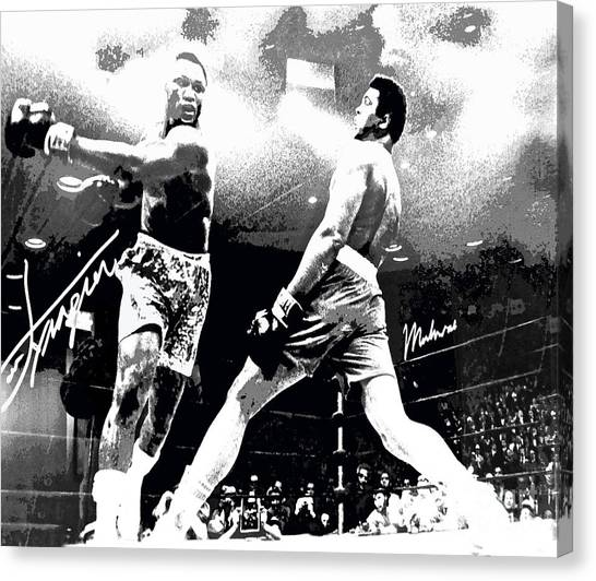 Mohamed Ali Float Like A Butterfly Canvas Print