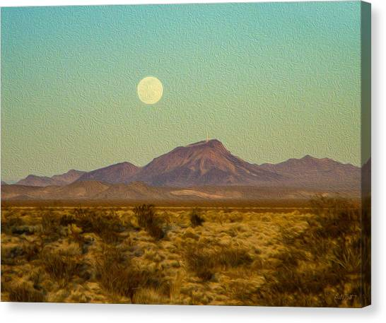 Mohave Desert Moon Canvas Print