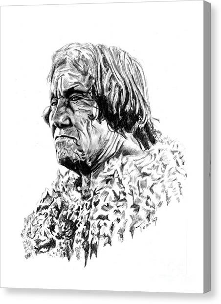 Mohave Man Canvas Print