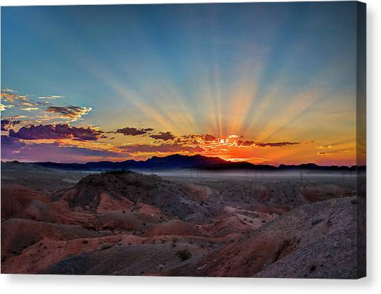 Mohave Sunrise Canvas Print