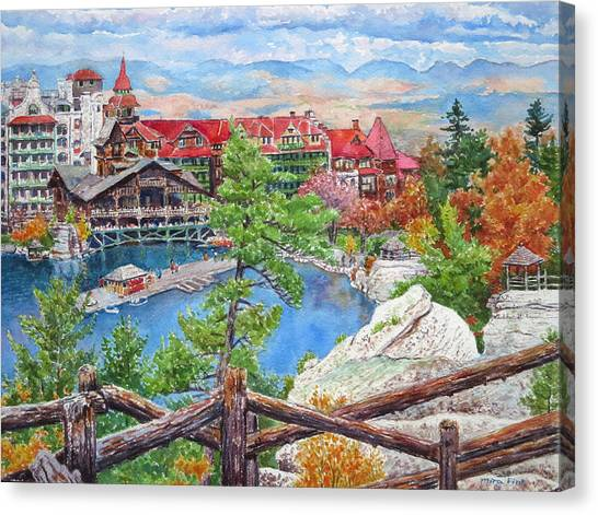 Mohonk Fall View From Cliffs Canvas Print by Mira Fink