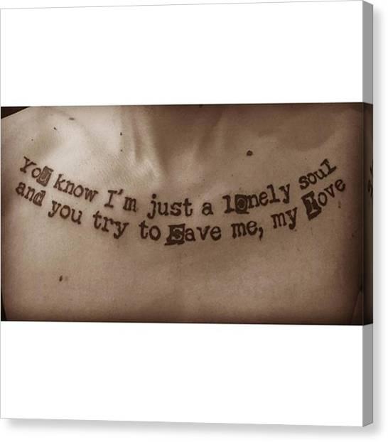 Tattoo Canvas Print - Moja Nova (este Cerstva Zovcera) 😍 by Jakub Horsky
