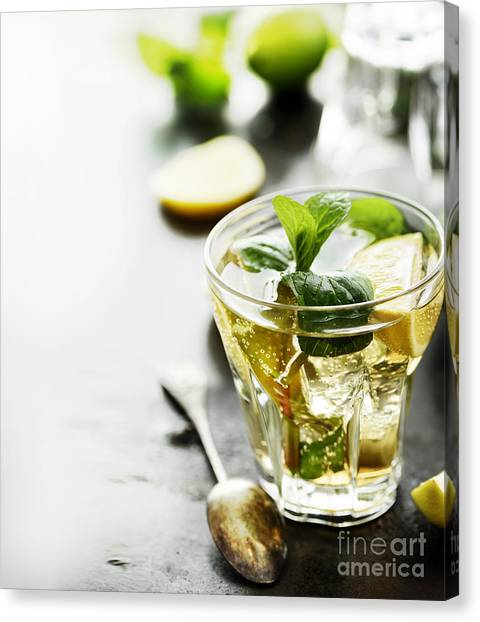 Orange Canvas Print - Mojito by Jelena Jovanovic