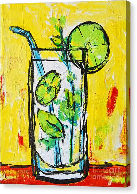 Mojito - Latin Tropical Drink Modern Art Canvas Print