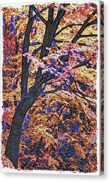 Moku Hanga Autumn Canvas Print