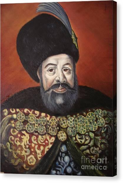 Moldavian Prince Vasile Lupu Canvas Print by Sorin Apostolescu