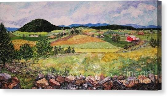 Mole Hill In Summer Canvas Print by Judith Espinoza