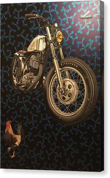 Yamaha Canvas Print - Molecular Motivation by Stephen Hall