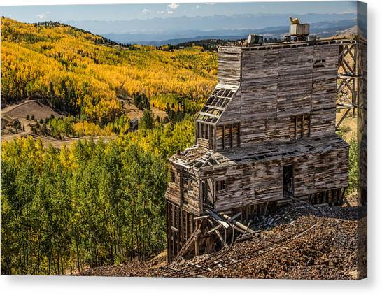 Mollie Kathleen Gold Mine In Autumn Canvas Print