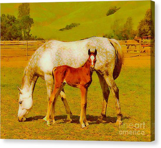 Mom And Me Canvas Print