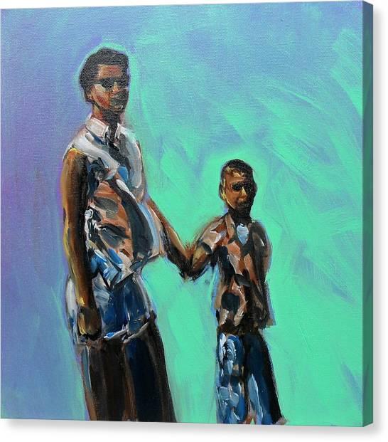 Mom And Me Canvas Print by Sheila Tajima