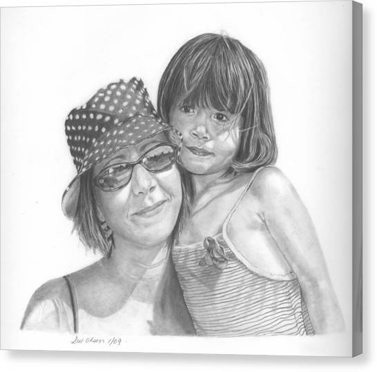 Mom And Me Canvas Print by Sue Olson