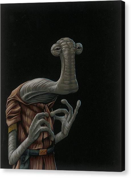 Hammerhead Sharks Canvas Print - Momaw Nadon by Jasper Oostland
