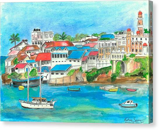 Mombasa Town Canvas Print