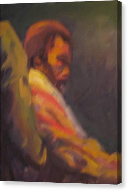 Moment Of Meditation Canvas Print by Pamela Preciado