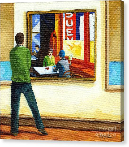 Moments With Hopper - Portrait Oil Painting Canvas Print