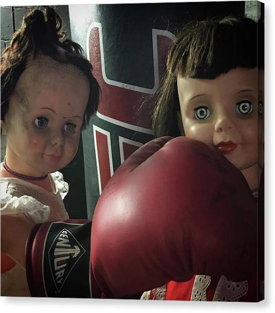 Knockout Canvas Print - Momma Said Knock You Out by A Teensy Space In Hell
