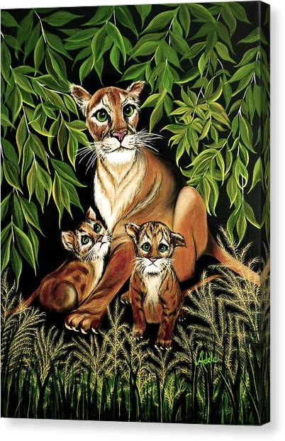 Florida Panthers Canvas Print - Momma's Pride And Joy by Adele Moscaritolo