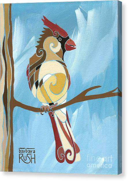 Moms Day Off Female Cardinal Painting Canvas Print
