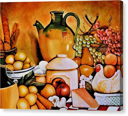 Onion Canvas Print - Mom's Kitchen by Dalgis Edelson