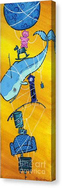 Abstract Whale Canvas Prints | Fine Art America