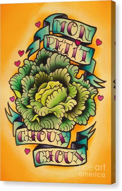 Mon Petit Choux Choux Canvas Print by Lauren B