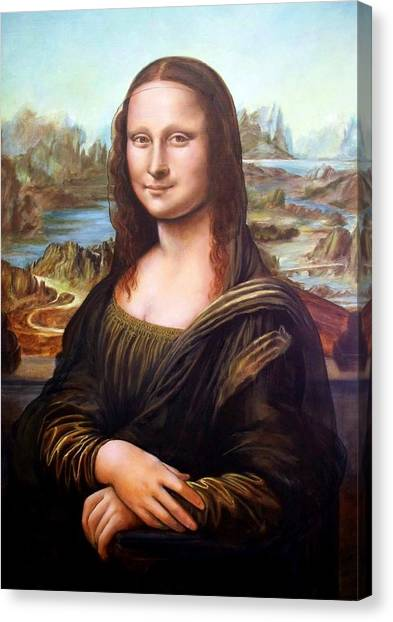 Mona Lisa After Leonardo Canvas Print