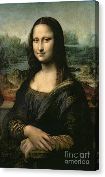 Women Canvas Print - Mona Lisa by Leonardo da Vinci