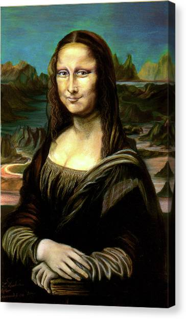 Mona Lisa My Version Canvas Print