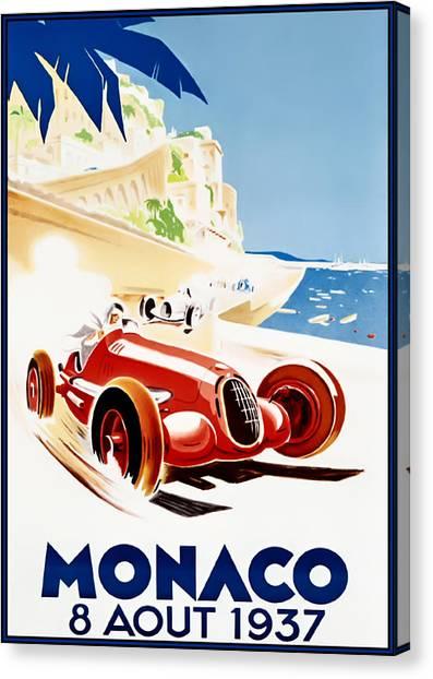 Monaco Grand Prix 1937 Canvas Print