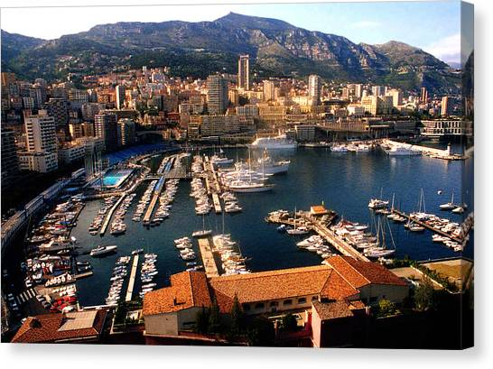 Monaco Harbor Canvas Print