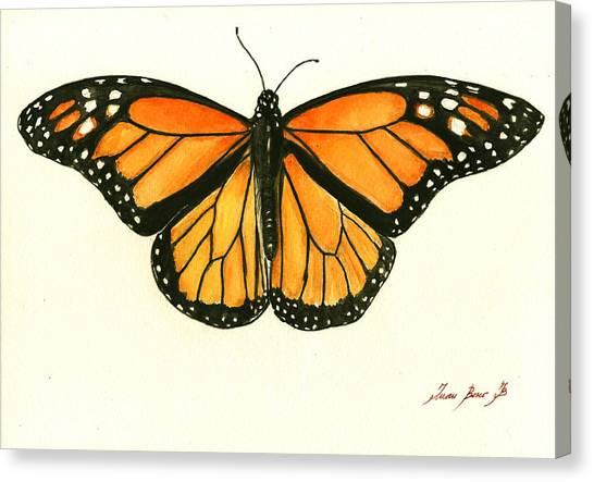 Butterflies Canvas Print - Monarch Butterfly by Juan Bosco