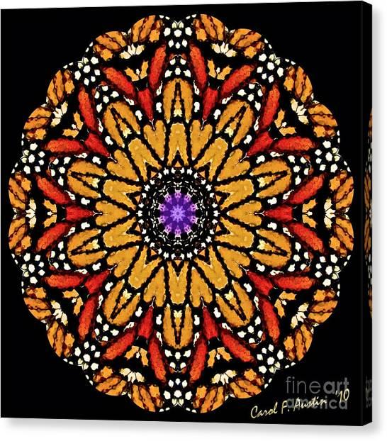 Monarch Butterfly Wings Kaleidoscope Canvas Print