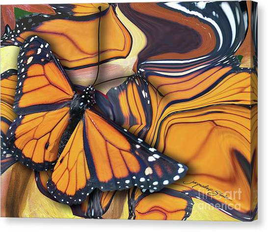 Monarch Flight Canvas Print