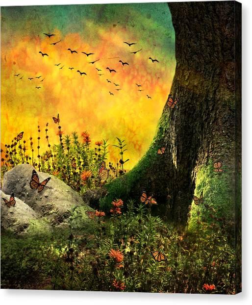 Monarch Meadow Canvas Print