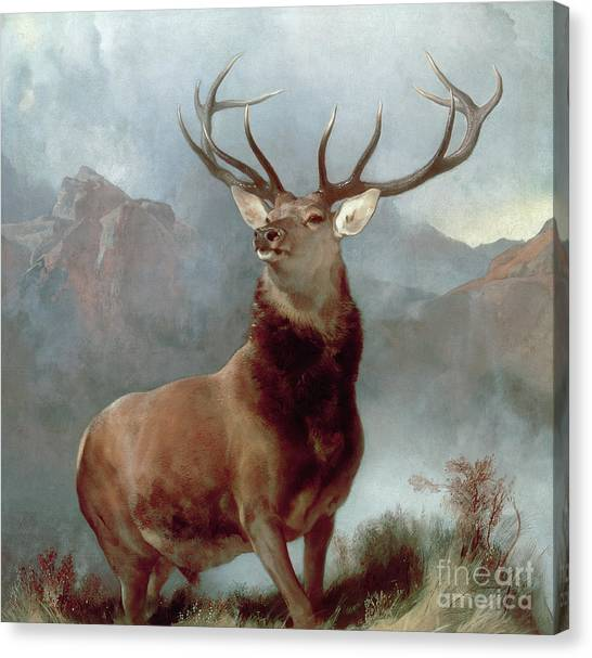 Wild Canvas Print - Monarch Of The Glen by Sir Edwin Landseer