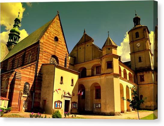 Monastery In The Wachock/poland Canvas Print