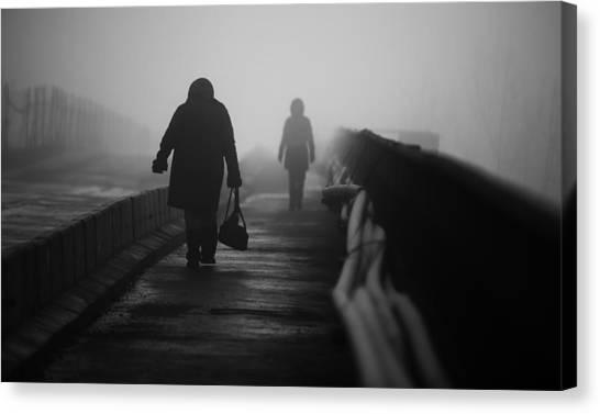Winter Canvas Print - Monday by Julien Oncete