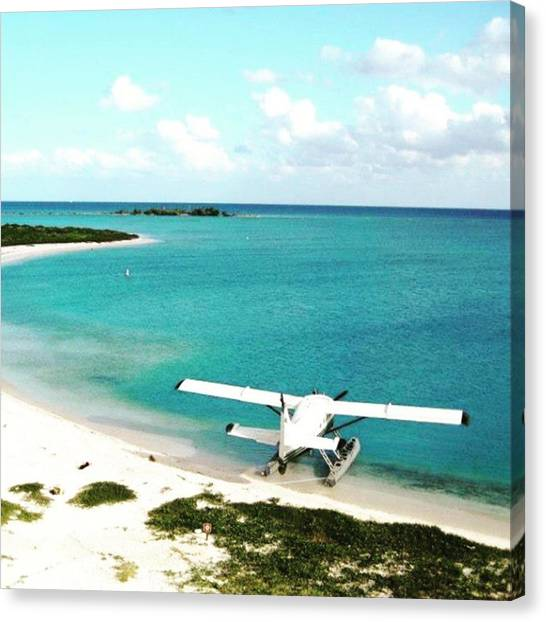 Seaplanes Canvas Print - Monday Morning Blues! I Wish I Could by Claudia Miller