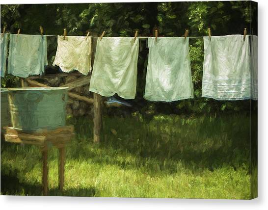 Monday Was Wash Day Canvas Print