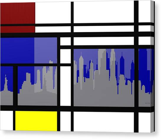 Mondrian In N Y Canvas Print