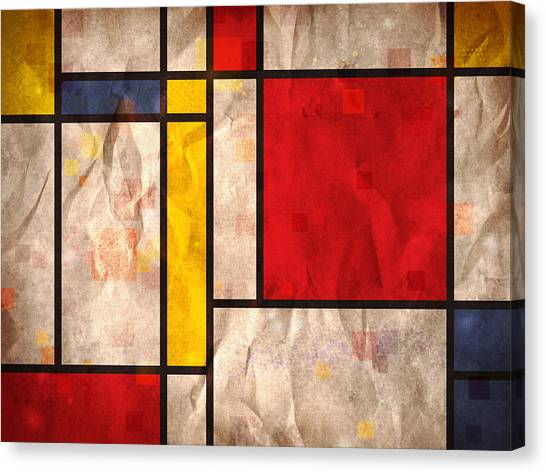 Abstract Canvas Print - Mondrian Inspired by Michael Tompsett