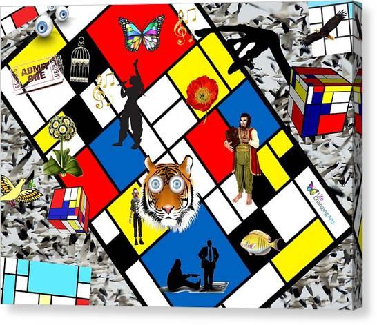 Mondrian Nightmare Canvas Print