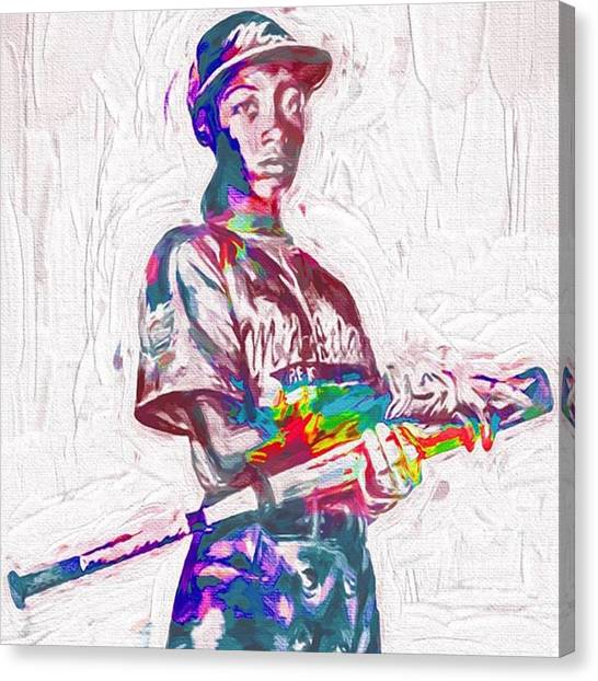 Baseball Canvas Print - Mo'ne Davis. The Future Of ? by David Haskett II